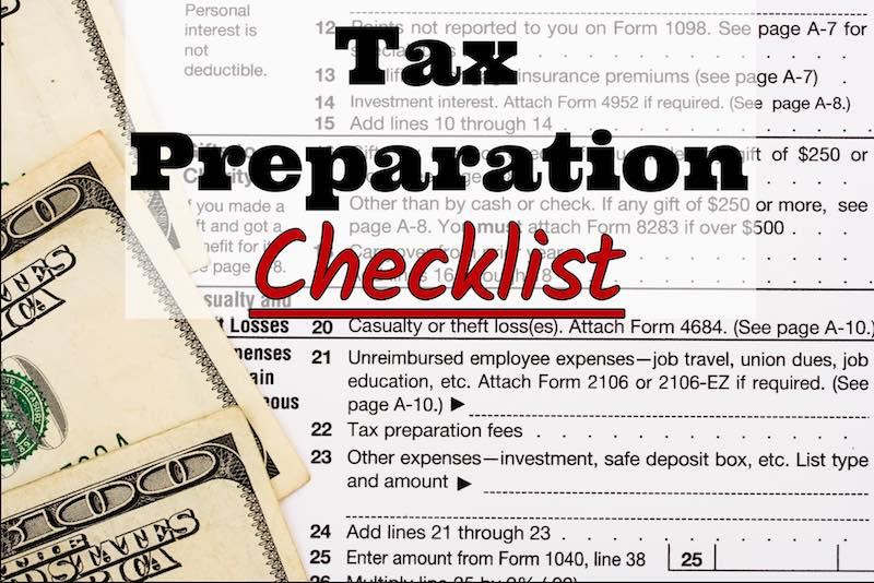 McKinley Jones & Associates's 2018 Tax Preparation Checklist